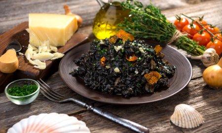 Appetizing Black Risotto