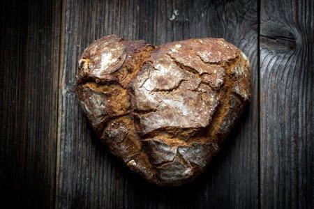 Freshly baked dark bread