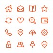 Business Fat Line Icon set for web and mobile. Mod...