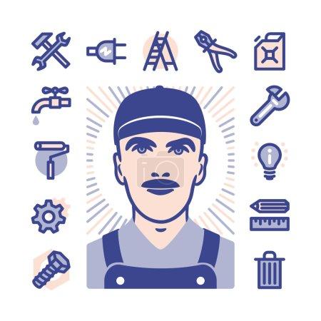 worker Icon set