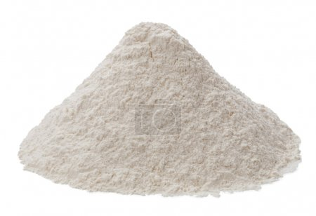 Photo for Flour isolated on a white background - Royalty Free Image