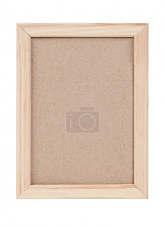 Photo for Blank wooden frame isolated on white background - Royalty Free Image