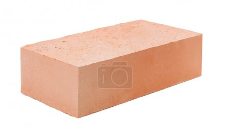 Photo for Red brick isolated on white background - Royalty Free Image