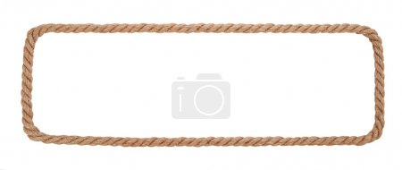 Rope border isolated