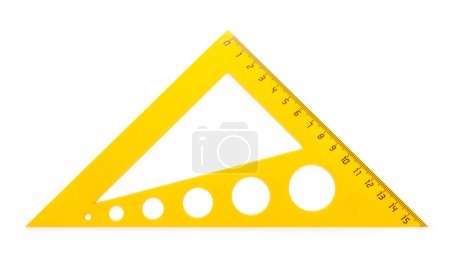Yellow plastic triangle