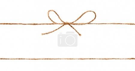 Rope and bow isolated