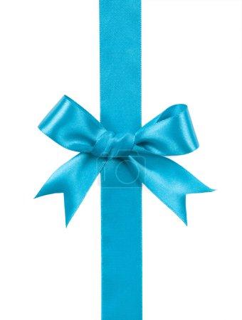 Photo for Turquoise bow isolated on white background - Royalty Free Image