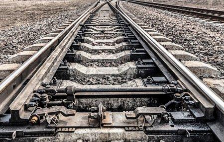 Photo pour Chemin de fer. Façons d'aller à l'horizon - image libre de droit