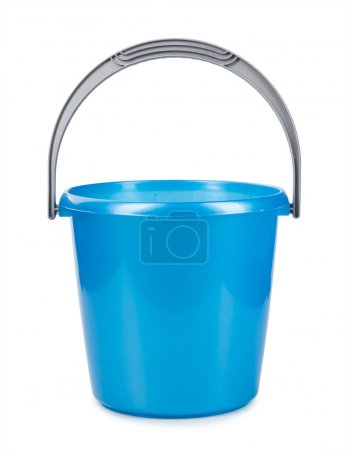 Blue bucket isolated on a white background