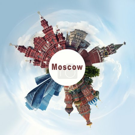 Photo for Russia, landmarks Moscow collage, travel concept - Royalty Free Image