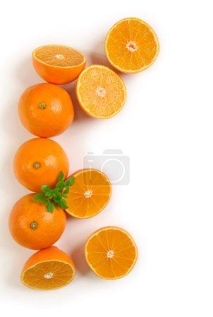 Photo pour Fruits oranges isolés sur fond blanc. Vue de dessus - image libre de droit