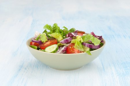 Photo for Close up of plate of vegetable Salad - Royalty Free Image