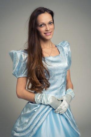Beautiful woman in a blue fairy dress...