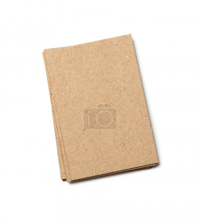 Photo for Kraft postal card on a white background - Royalty Free Image