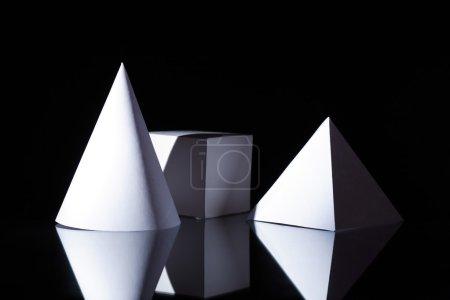 Geometric Shapes On Dark