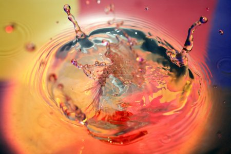 Photo for Water fantasy. Nice abstract color water splash with free space - Royalty Free Image