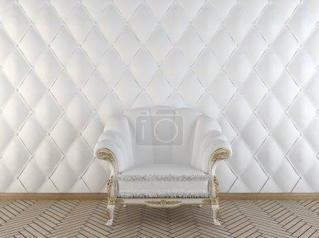 Photo pour Intérieur classique avec un fauteuil - image libre de droit