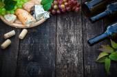 Víno a jídlo koncept
