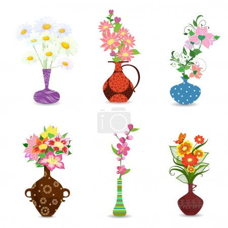 collection of bouquet of flowers in vase