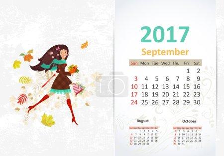 Fun Calendar with nice young woman