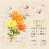 Krásná kytice s Vintage kalendáře
