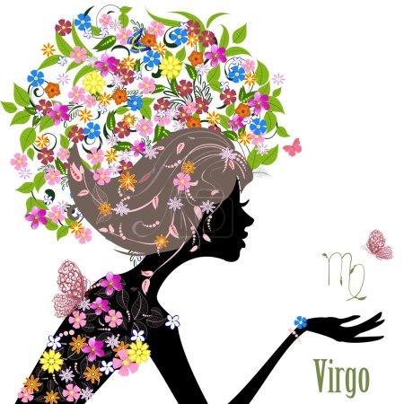 Illustration for Zodiac sign virgo. fashion girl - Royalty Free Image