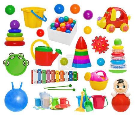 Set of plastic toys