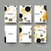 DNA molecule vector brochure template Flyer Layout