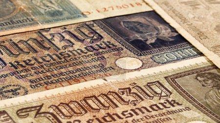Third reich nazi banknotes 1942 WW2 in occupied Ukraine