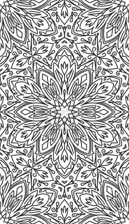 Rich decorated floral pattern