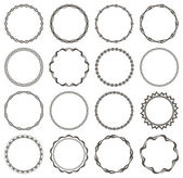 Set of 16 simple round frames