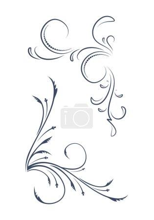 ornamental, floral corners