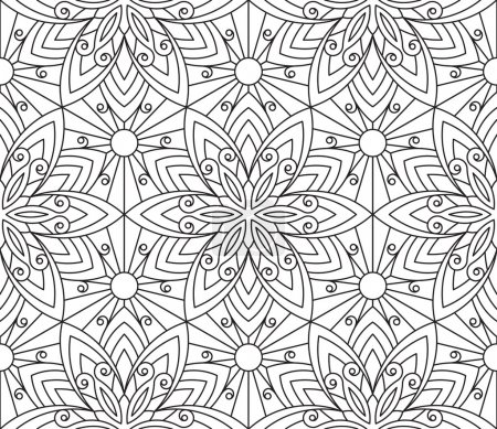 Rich decorated calligraphic seamless pattern