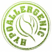 green stamp with caption hypoallergenic