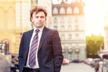 Handsome mature businessman outdoor