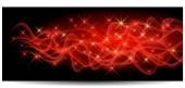 Magic glowing background with neon smoke shining stars