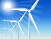 Větrné turbíny a slunce