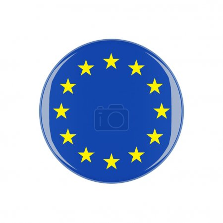Photo for Europe 3d button isolated on white background - Royalty Free Image