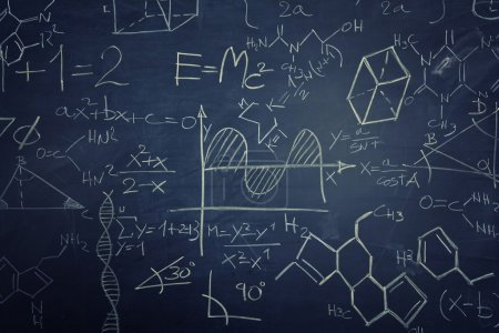Photo for Classic chalkboard with math sign - Royalty Free Image