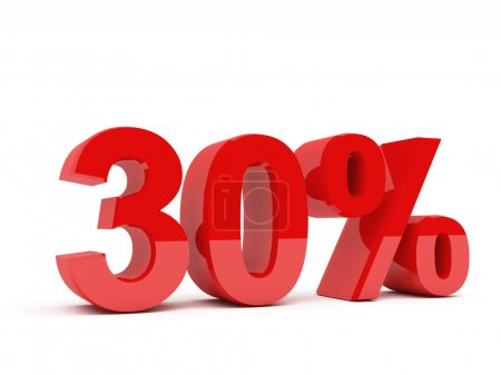 Photo for 3d red text of discount sale on white - Royalty Free Image