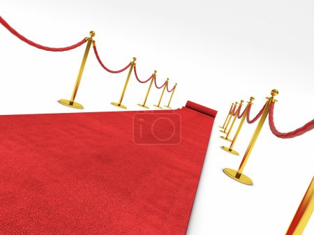 Photo for 3d image of red carpet on white stair - Royalty Free Image