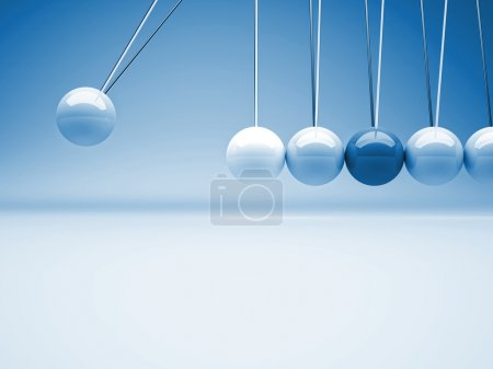 Photo for Classic 3d newton cradle background - Royalty Free Image