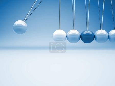 Photo pour Fond classique de berceau de newton 3d - image libre de droit