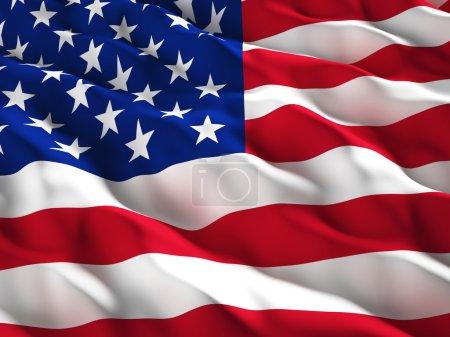 Photo pour Illustration 3D du vieux drapeau de gloire américain - image libre de droit