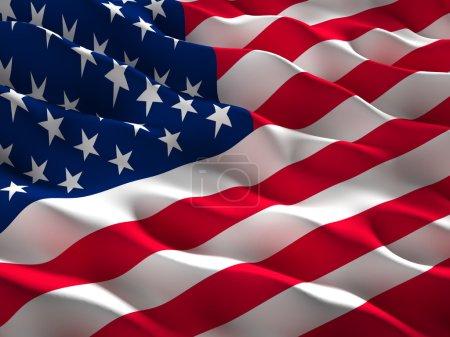 Photo pour Image du drapeau usa agité - image libre de droit