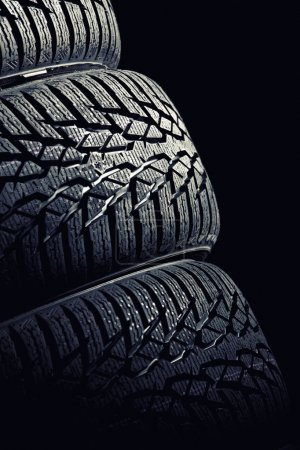 Photo for Detail of used winter tyre - Royalty Free Image