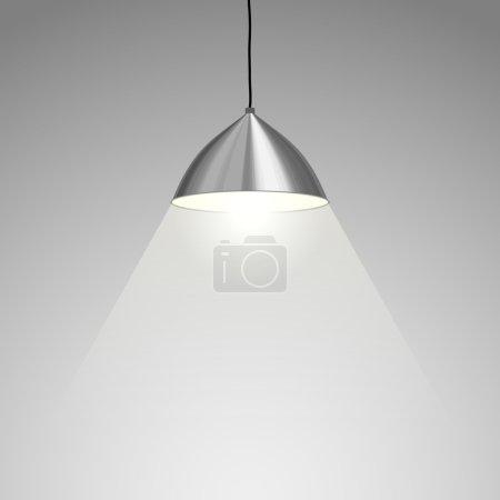 Illustration pour Lampe suspendue. Illustration vectorielle - image libre de droit