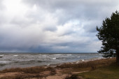 Stormy Baltic sea.