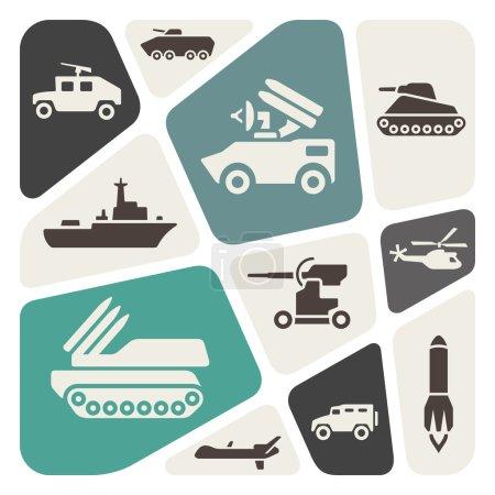 Illustration pour Thème militaire fond, illustration vectorielle - image libre de droit