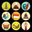 Indonesia icons,vector illustration...